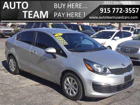 2016 Kia Rio for sale at AUTO TEAM in El Paso TX