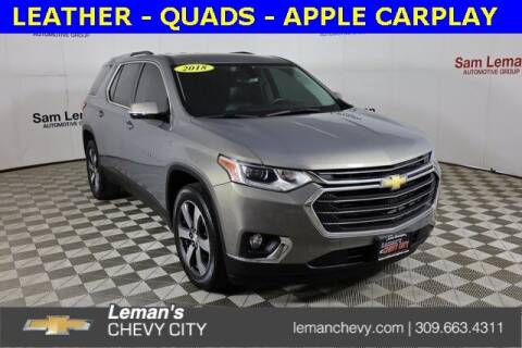 2018 Chevrolet Traverse for sale at Leman's Chevy City in Bloomington IL