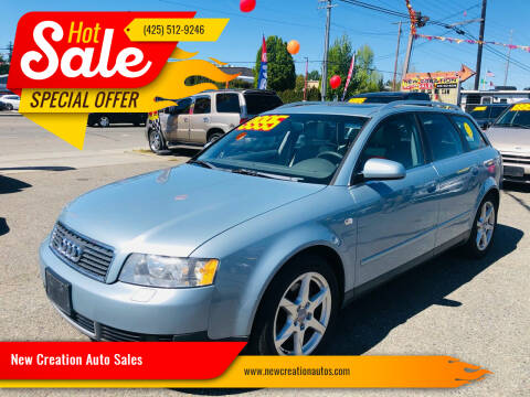 2002 Audi A4 for sale at New Creation Auto Sales in Everett WA