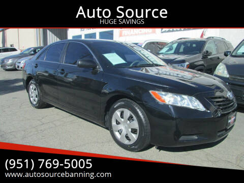 2009 Toyota Camry for sale at Auto Source in Banning CA