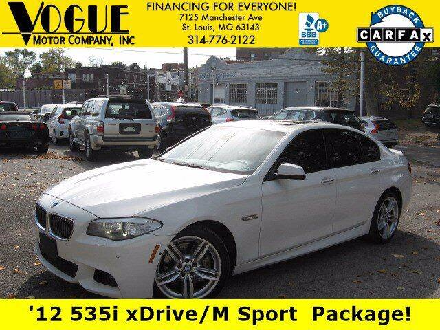 2012 BMW 5 Series for sale at Vogue Motor Company Inc in Saint Louis MO