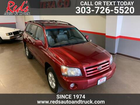 2007 Toyota Highlander for sale at Red's Auto and Truck in Longmont CO