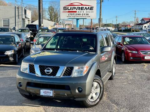 2005 Nissan Pathfinder for sale at Supreme Auto Sales in Chesapeake VA