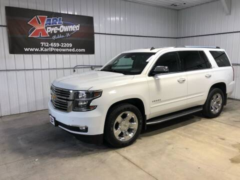 2015 Chevrolet Tahoe for sale at Karl Pre-Owned in Glidden IA