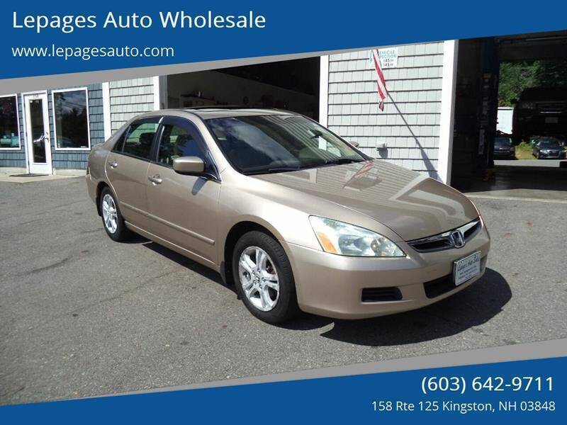 2006 Honda Accord for sale at Lepages Auto Wholesale in Kingston NH