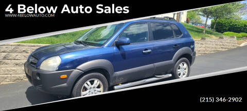 2006 Hyundai Tucson for sale at 4 Below Auto Sales in Willow Grove PA