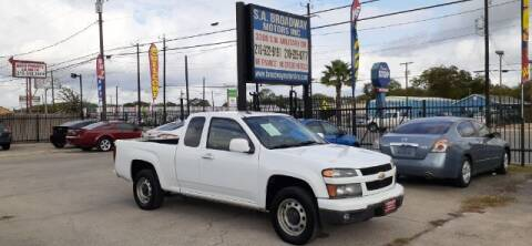 2012 Chevrolet Colorado for sale at S.A. BROADWAY MOTORS INC in San Antonio TX