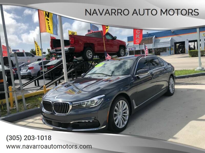 2017 BMW 7 Series for sale at Navarro Auto Motors in Hialeah FL