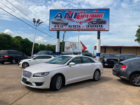 2017 Lincoln MKZ for sale at ANF AUTO FINANCE in Houston TX