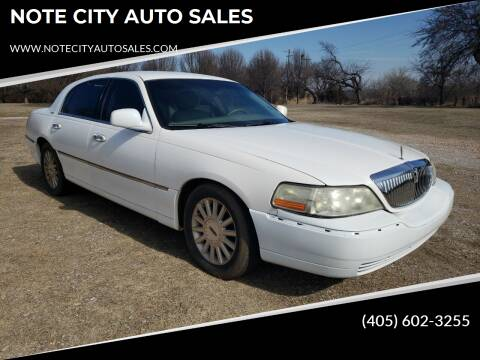 2004 Lincoln Town Car for sale at NOTE CITY AUTO SALES in Oklahoma City OK