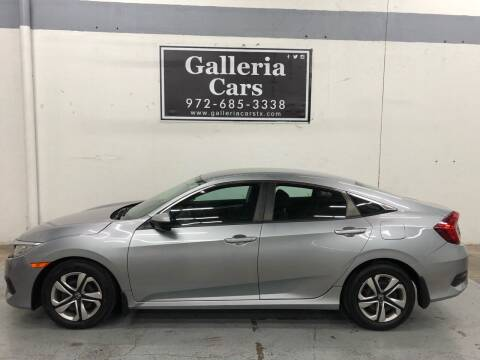 2017 Honda Civic for sale at Galleria Cars in Dallas TX