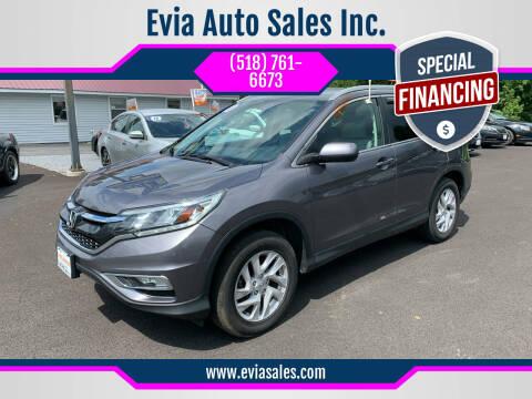 2015 Honda CR-V for sale at Evia Auto Sales Inc. in Glens Falls NY