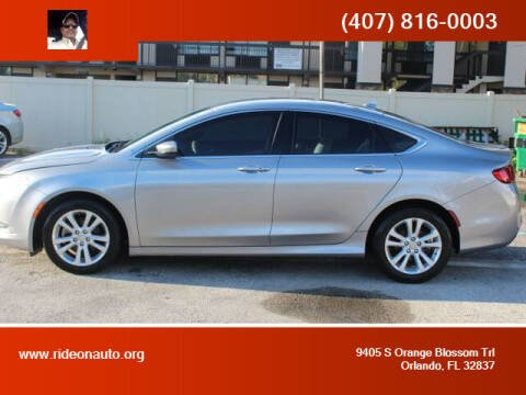 2015 Chrysler 200 for sale at Ride On Auto in Orlando FL