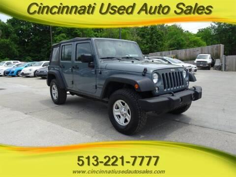2014 Jeep Wrangler Unlimited for sale at Cincinnati Used Auto Sales in Cincinnati OH