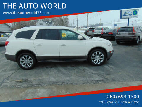 2012 Buick Enclave for sale at THE AUTO WORLD in Churubusco IN