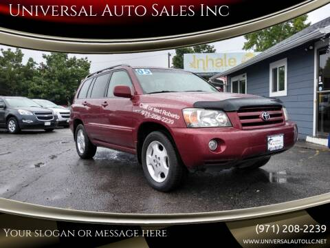 2005 Toyota Highlander for sale at Universal Auto Sales Inc in Salem OR