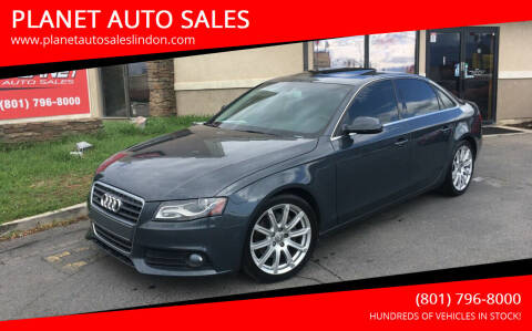 2010 Audi A4 for sale at PLANET AUTO SALES in Lindon UT