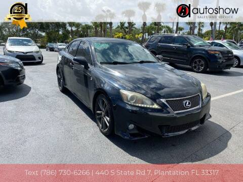 2013 Lexus IS 250 for sale at AUTOSHOW SALES & SERVICE in Plantation FL