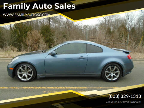 2005 Infiniti G35 for sale at Family Auto Sales in Rock Hill SC