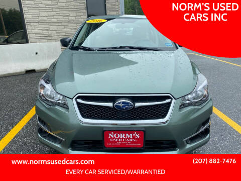 2016 Subaru Impreza for sale at NORM'S USED CARS INC in Wiscasset ME