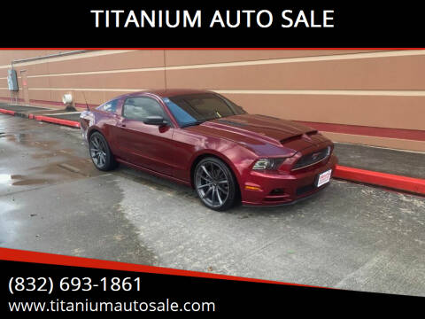 2014 Ford Mustang for sale at TITANIUM AUTO SALE in Houston TX