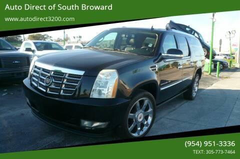 2010 Cadillac Escalade ESV for sale at Auto Direct of South Broward in Miramar FL