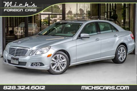 2011 Mercedes-Benz E-Class for sale at Mich's Foreign Cars in Hickory NC