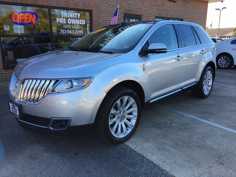 2012 Lincoln MKX for sale at Bankruptcy Car Financing in Norfolk VA