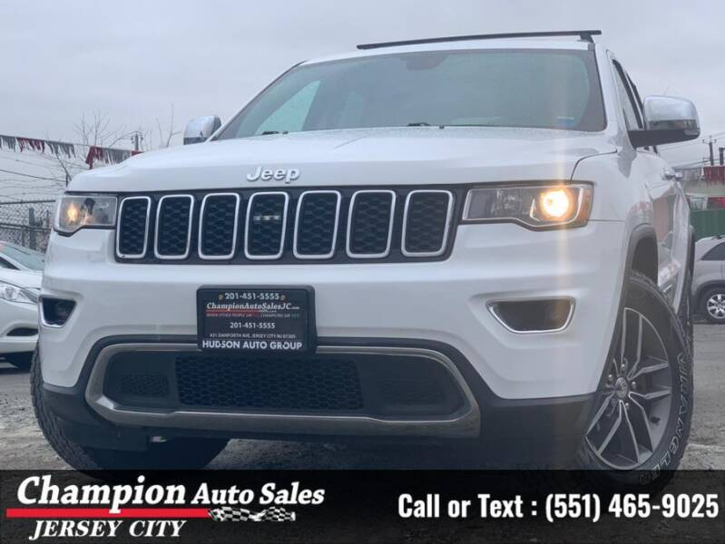 2017 Jeep Grand Cherokee for sale at CHAMPION AUTO SALES OF JERSEY CITY in Jersey City NJ