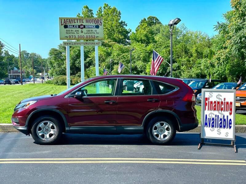2015 Honda CR-V for sale at Lafayette Motors 2 in Andover NJ