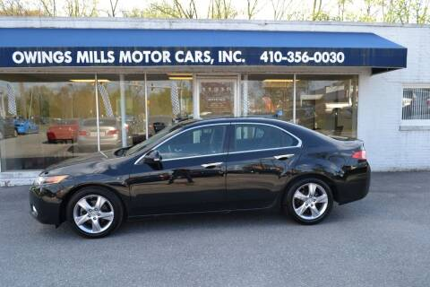 2013 Acura TSX for sale at Owings Mills Motor Cars in Owings Mills MD