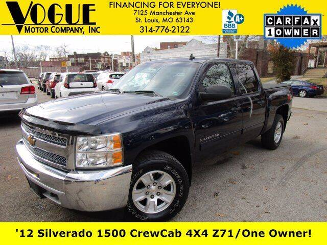 2012 Chevrolet Silverado 1500 for sale at Vogue Motor Company Inc in Saint Louis MO
