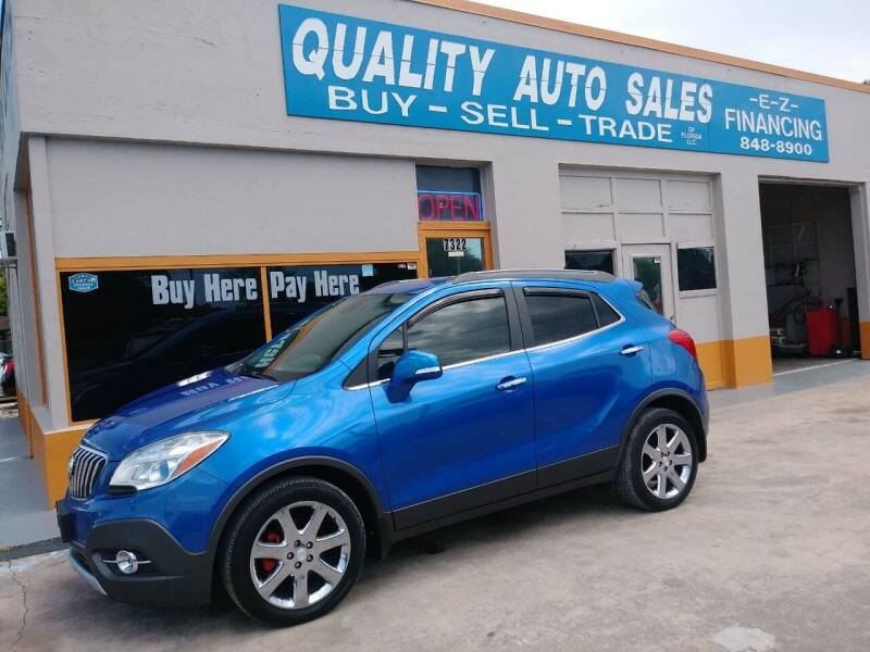 2014 Buick Encore for sale at QUALITY AUTO SALES OF FLORIDA in New Port Richey FL