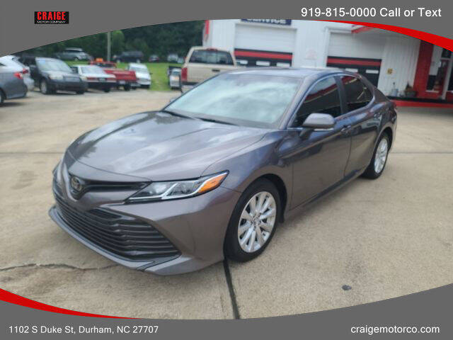 2018 Toyota Camry for sale at CRAIGE MOTOR CO in Durham NC