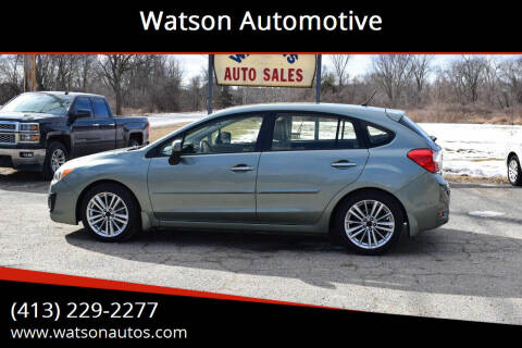 2014 Subaru Impreza for sale at Watson Automotive in Sheffield MA