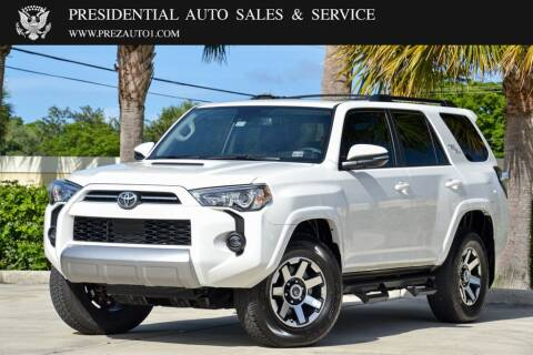 2020 Toyota 4Runner for sale at Presidential Auto  Sales & Service in Delray Beach FL