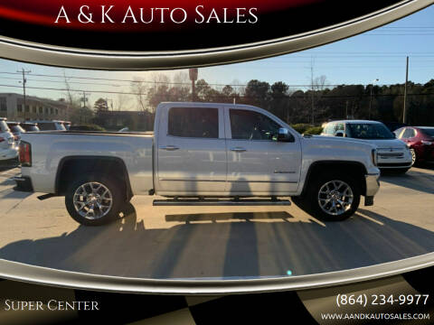 2017 GMC Sierra 1500 for sale at A & K Auto Sales in Mauldin SC