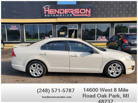 2010 Ford Fusion for sale at Henderson Automotive, LLC in Oak Park MI