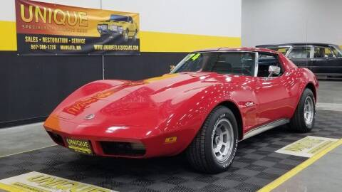 1974 Chevrolet Corvette for sale at UNIQUE SPECIALTY & CLASSICS in Mankato MN
