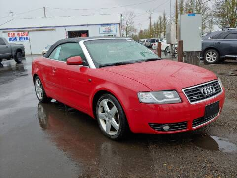 2004 Audi A4 for sale at M AND S CAR SALES LLC in Independence OR
