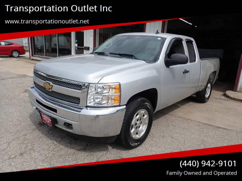 2013 Chevrolet Silverado 1500 for sale at Transportation Outlet Inc in Eastlake OH