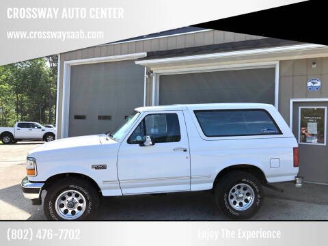 1996 Ford Bronco for sale at CROSSWAY AUTO CENTER in East Barre VT