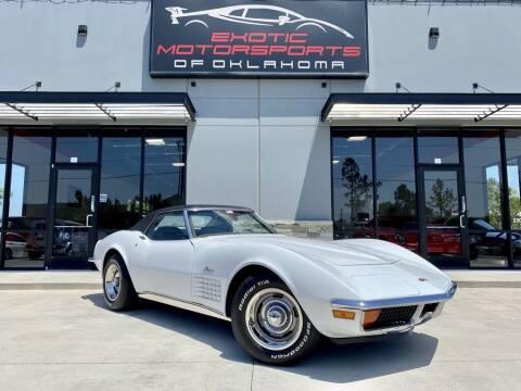 1972 Chevrolet Corvette for sale at Exotic Motorsports of Oklahoma in Edmond OK