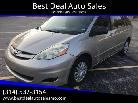 2007 Toyota Sienna for sale at Best Deal Auto Sales in Saint Charles MO