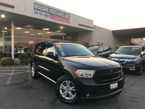 2013 Dodge Durango for sale at Golden State Auto Inc. in Rancho Cordova CA