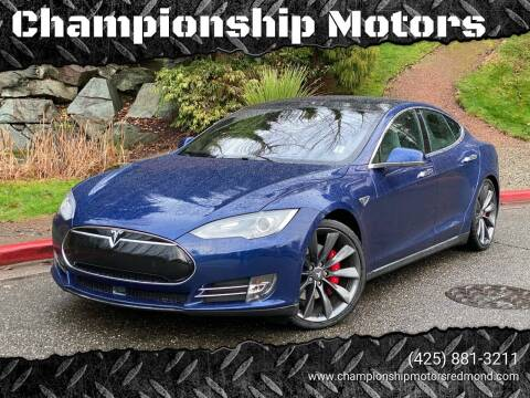 2015 Tesla Model S for sale at Mudarri Motorsports - Championship Motors in Redmond WA