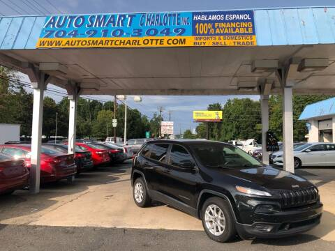 2014 Jeep Cherokee for sale at Auto Smart Charlotte in Charlotte NC