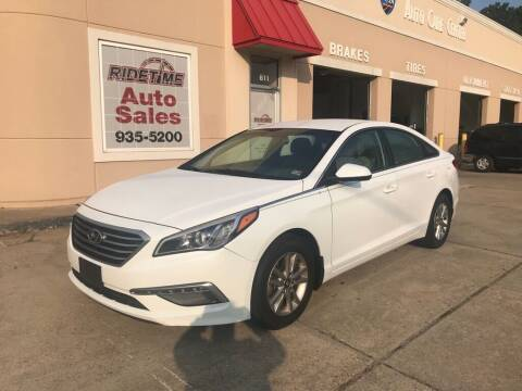 2015 Hyundai Sonata for sale at Ridetime Auto in Suffolk VA