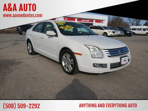 2008 Ford Fusion for sale at A&A AUTO in Fairhaven MA