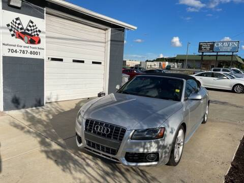 2011 Audi S5 for sale at NATIONAL CAR AND TRUCK SALES LLC - National Car and Truck Sales in Concord NC